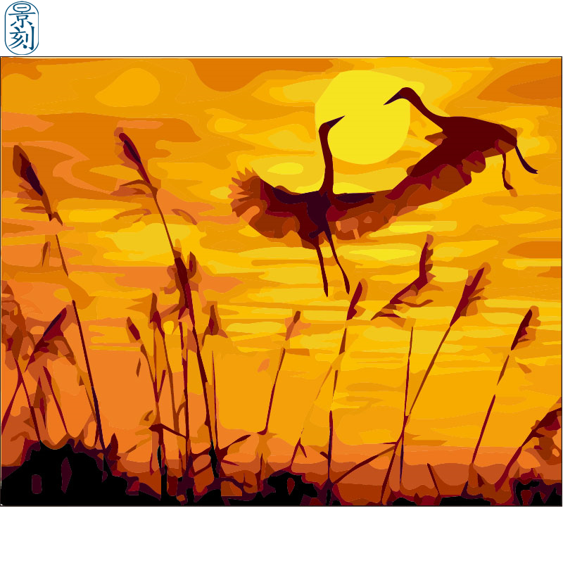 Crane Series.Hand Made Paint High Quality Canvas Beautiful Painting By Numbers Surprise Gift Great Accomplishment