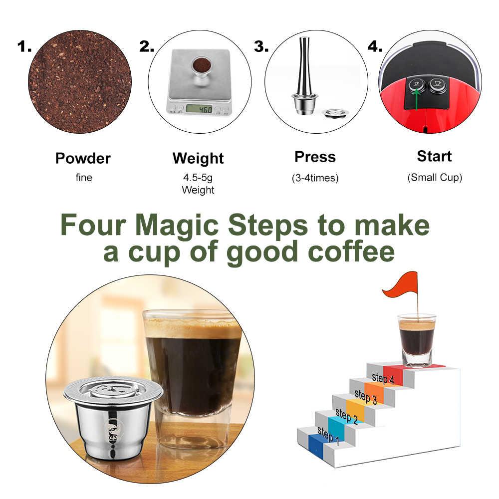 ICafilas do wielokrotnego napełniania kapsułka z kawą Nespresso Crema Espresso wielokrotnego użytku nowy wielokrotnego napełniania do filtr do kawy