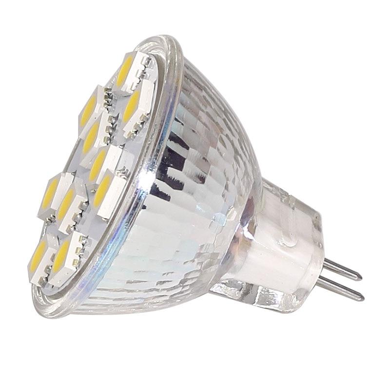 1.8W 120LM White Bulb ~15W 10-30V DC Cabinet G4 9 SMD LED 12V