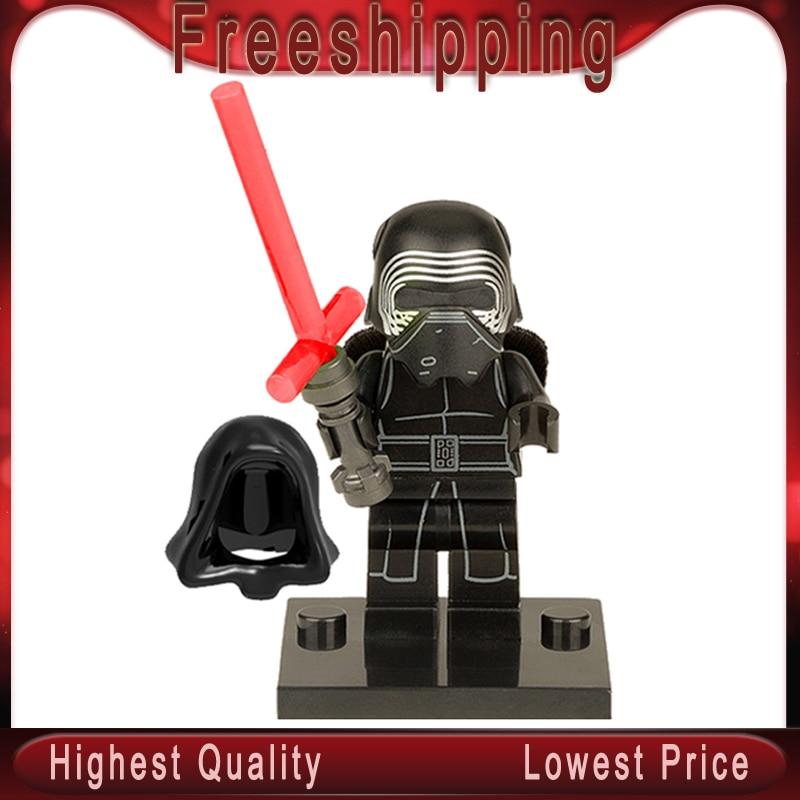 Star Wars Legoed XH144 Super Heroes Black Villain WuLoren Force 7 Awakening Suicide Squad Building Blocks Children Toys