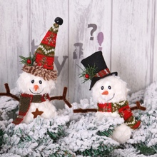 Welcome Santa Snowman Xmas Door Hanging Christmas Ornaments Doll Decoration Decorations For Home Navidad