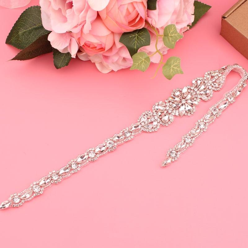 YJWSXF   Wedding dress belt bridal belt pearl rhinestone belt evening dress belt wedding accessories