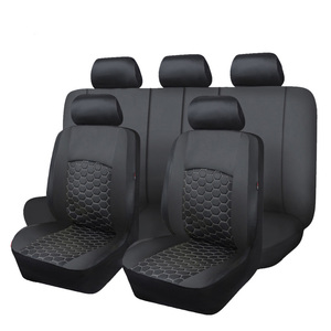 Image 2 - Delux PVC car seat covers set double laminated embroidery airbag compatible rear bench split 40/60 50/50 60/40 SUV