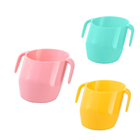 200ML BPA Free Baby Training Feeding Cup With Handle Bevel Mouth Safe Leakproof Cup Kids Water Bottle Baby Solid Feeding Cups