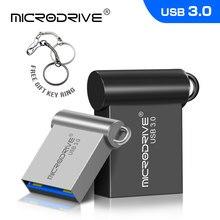 Super mini usb flash drive 64gb 32gb 16gb caneta pendrive à prova dpendágua metal prata u disco memoria mini usb3.0 vara presente
