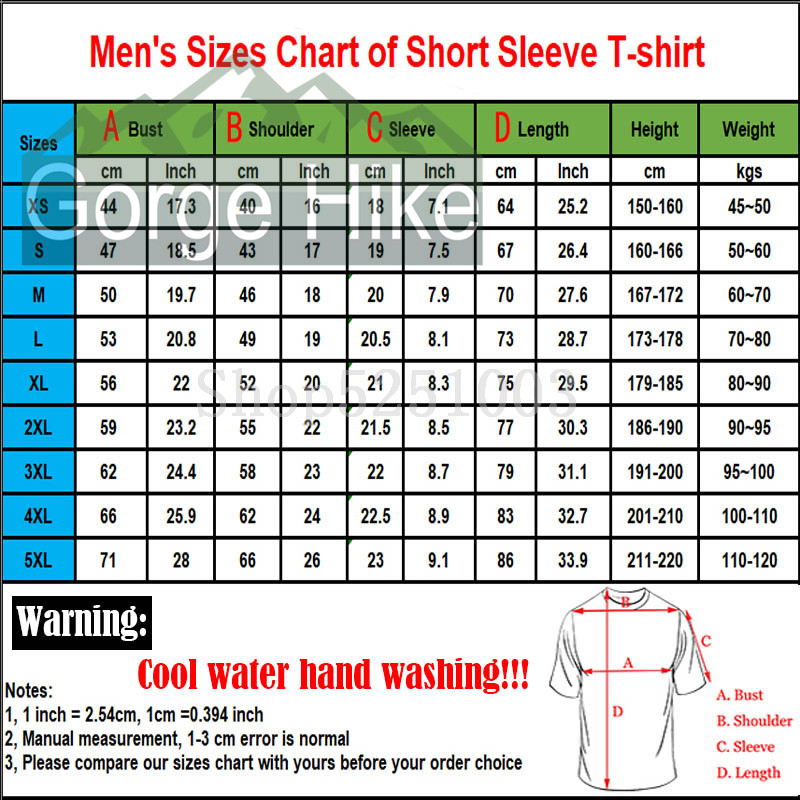 Men's Size Chart(4XL-5XL)