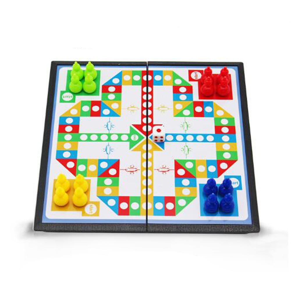 Educational Portable Flight Chess Folding Puzzle Board Game Chess Toys Kids Classic Game Party Family Toys For Children