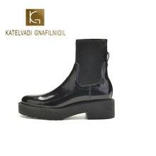 Katelvadi ботильоны круглый носок из натуральной кожи женская
