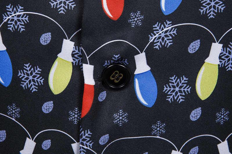 3D クリスマスライトプリントのベストの男性 2019 ファッション新クリスマスチョッキメンズクリスマスパーティーホリデータキシードベスト Chalecos パラやつ