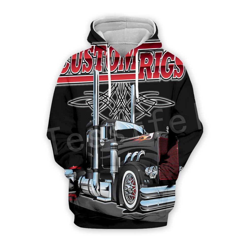 Tessffel Truck Trucker Driver Pullover Tracksuit New Fashion Crewneck MenWomen 3D Printed Sweatshirts/Hoodies/Zipper/jacket S-9