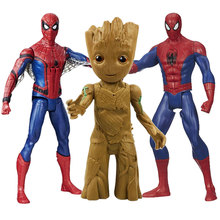 Marvel Guardians of the Galaxy Growing Groot Tree Man Spiderman Avengers Joints Moveable Action Figure New Year Toys for Kids