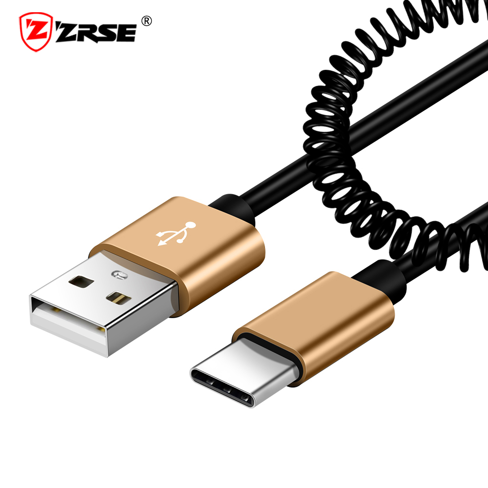 ZRSE USB Type C Cable For Xiaomi 8 9 Spring 2.4A Fast Charging Data Type C Cable for OnePlus 7 6 6T Type C Cable for Samsung S10-in Mobile Phone Cables from Cellphones & Telecommunications on AliExpress