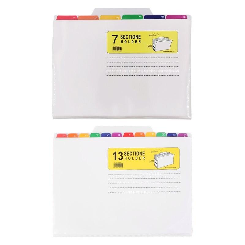File Holder Classification Bag Color UV Print Folder Waterproof File Good Sorter W91A