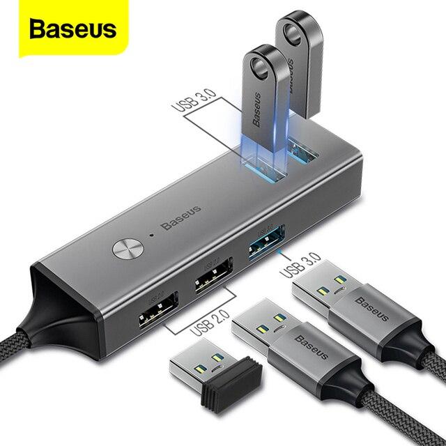 Baseus HUB Multi USB C vers USB 3.0 USB3. Séparateur de HUB USB type c 0 pour Macbook Pro Air, adaptateur pour HUB USB type c USB C