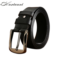 Brand Men's Belt High Quality Leather Belt Men Luxury Vintage Style Pin Buckle Belts Male Jeans Cummerbund