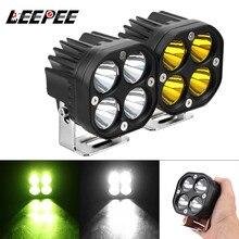 LEEPEE אופנוע נהיגה אורות Led עבודה אור בר כיכר זרקור עבור 4x4 Offroad טרקטורי רכב ערפל מנורת 3 אינץ לבן/צהוב