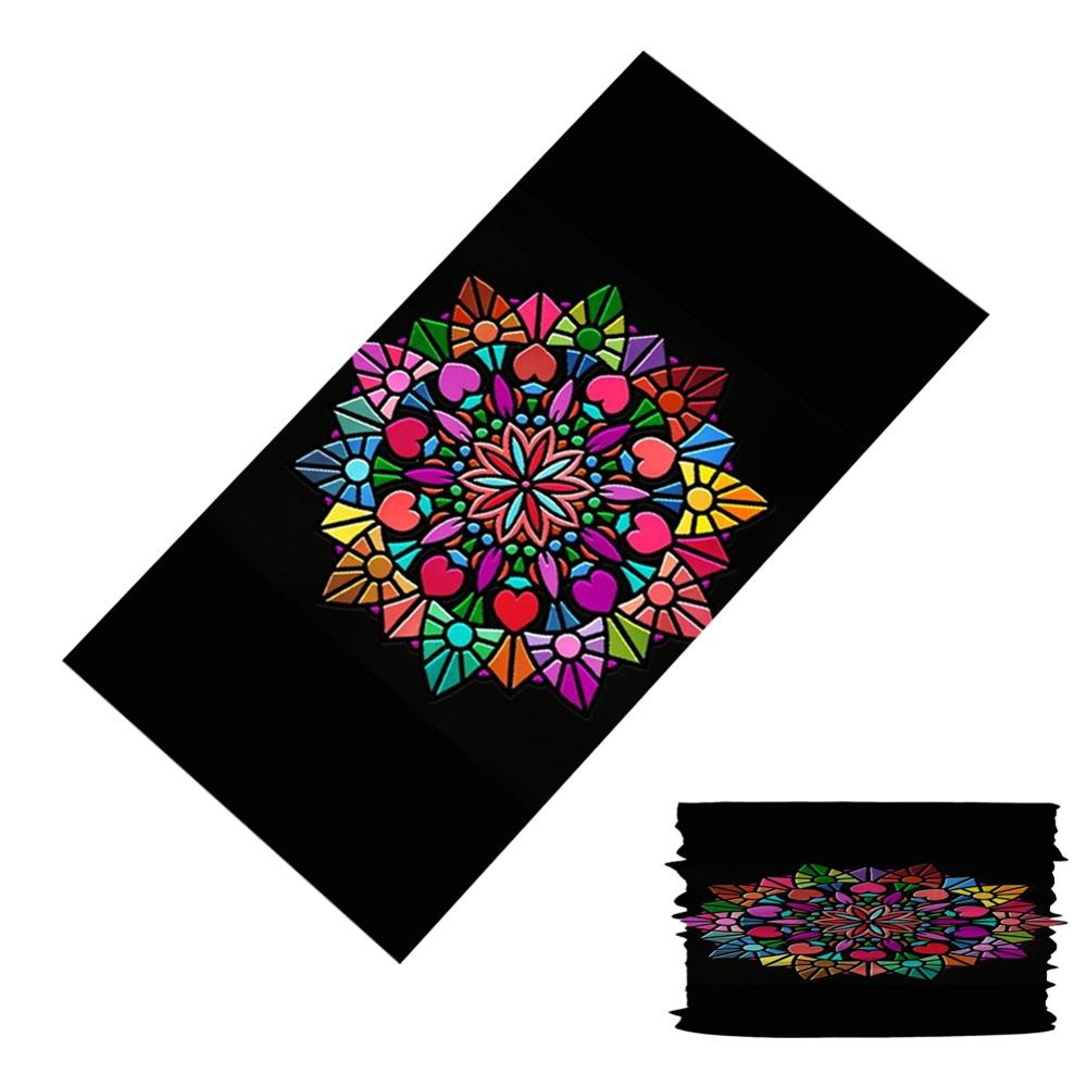 Vintage Mandala Pattern Bandana Scarf Head/Face/Mask/Neck Dual-use Magic Tube HeadScarf Cycling Outdoor Sport Headwear