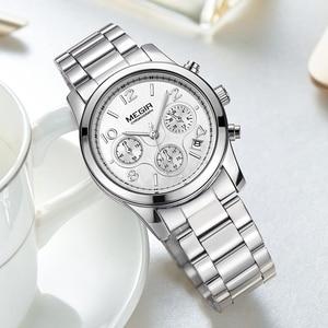 Image 5 - MEGIR Luxury Quartz Women Watches Relogio Feminino Fashion Sport Ladies Lovers Watch Clock Top Brand Chronograph Wristwatch 2057