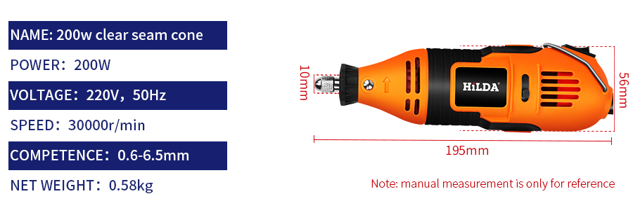 HILDA Electric Power Drills with Copper Motor for Wax Polishing and Seal Engraving 7