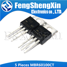5pcs MBR60100CT TO220 MBR60100 PARA-220 60100CT 60A diodo Schottky 100V