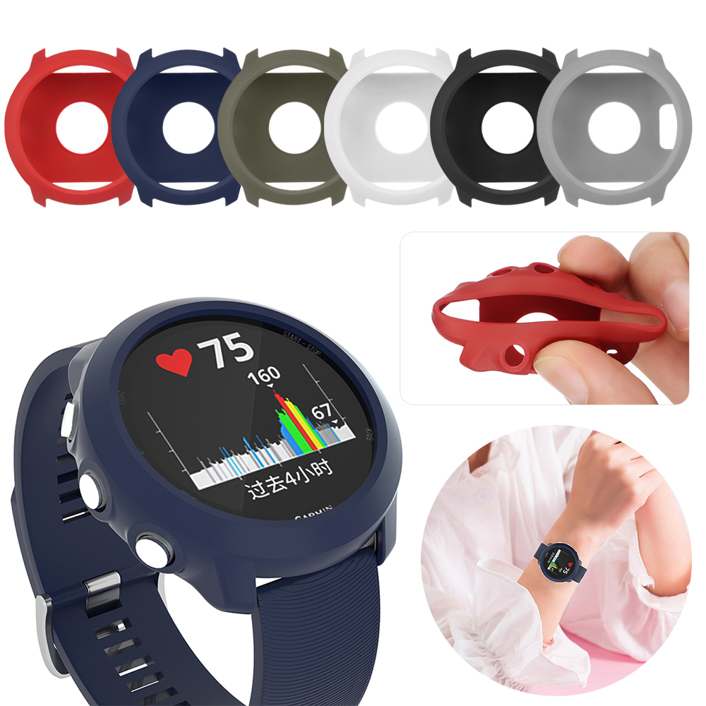 For <font><b>Garmin</b></font> <font><b>Forerunner</b></font> <font><b>645</b></font> / <font><b>645</b></font> Music Soft TPU Cover Smart watch Replacement Protection <font><b>Cases</b></font> Wristband Accessories Shockproof image