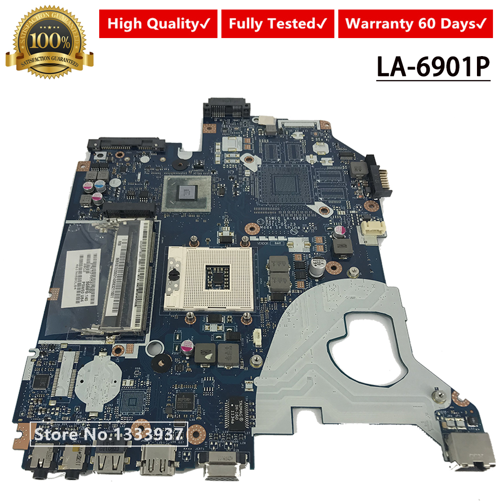 P5WE0 3GMFQ LA-6901P Laptop Motherboard For Acer 5750 5750G MBR9702003 HM65 Mainboard Mainboard