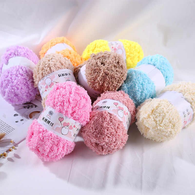 TPRPYN 1Pc = 50g di Lana di Spessore Corallo Velluto Lane e Filati Molle Del Bambino Lane e Filati A Mano di Lavoro A Maglia di Cachemire Lane e Filati Filo Crochet coperta infantile Maglione