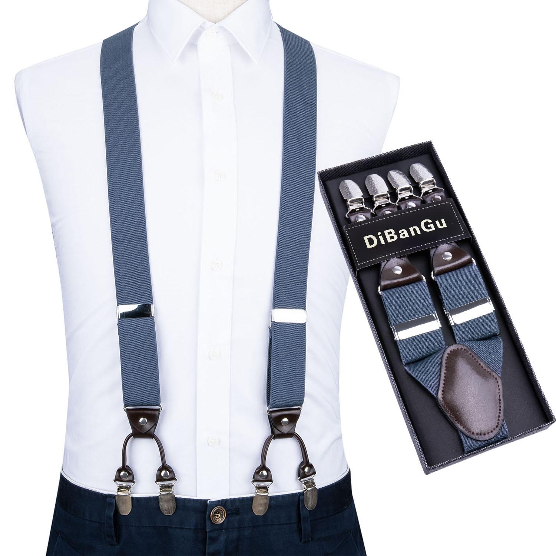 Vintage Men/'s Suspenders For Trousers Men Button Braces Y-Back Shape Suspender