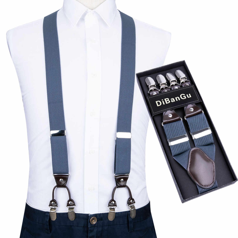 Men Suspenders Y Mens Clip-on Suspender Adjustable Men Suspenders Black