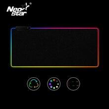 Tapis de souris antidérapant coloré avec éclairage filaire USB pour PC et PC, grand tapis de souris RGB LED pour clavier de jeu