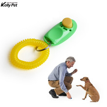 Pet Cat Dog Training Clicker Remote Portable Dog Button Clicker Sound Whistle Trainer Pet Train Tool Control Wrist Band pet training dog clicker adjustable sound key chain and wrist strap doggy train