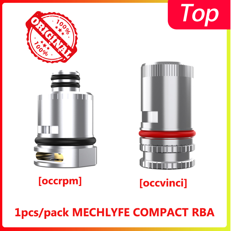 1pcs/pack MECHLYFE COMPACT RBA Coil Head 510 Thread Design Cores For Rpm Pod/vinci Pod VS Vinci RBA