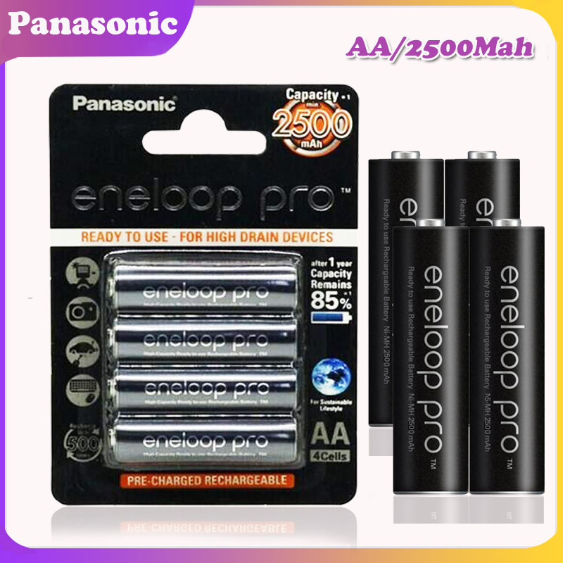 Panasonic NI-MH Battery Flashlight Aa 2500mah Pro for Camera Toy Remote-Control Precharged title=