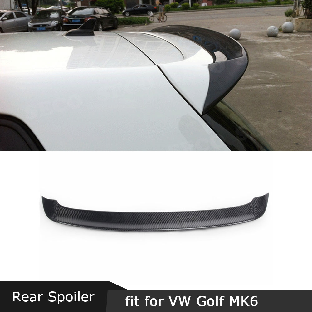Carbon fiber / FRP Rear Roof Spoiler Window Wings for Volkswagen VW Golf 6 MK6 VI GTI R20 2010 - 2013 OS Style Spoiler