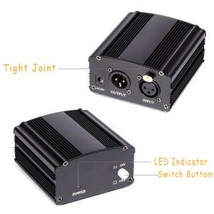 Image 2 - 48V 팬텀 전원 BM 800 콘덴서 마이크 스튜디오 녹음 가라오케 공급 장비 EU 플러그 오디오 어댑터 DC 전원