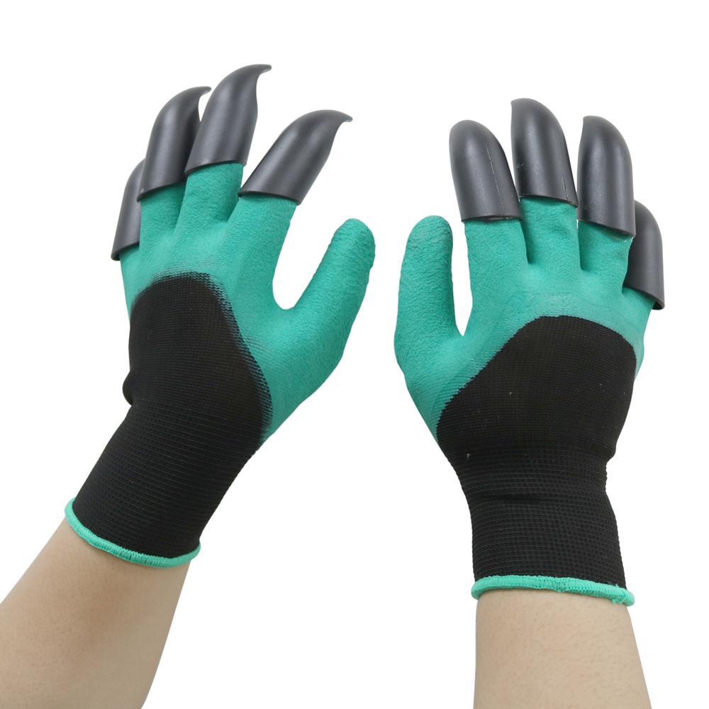 1 par de guantes de goma para jardín con 8 garras para los dedos resistentes al desgaste antideslizantes guantes resistentes al agua para jardinería Botas de trabajo indestructibles antideslizantes; Zapatos de trabajo desodorantes resistentes al desgaste al aire libre; Zapatos de seguridad anti-golpes 2019