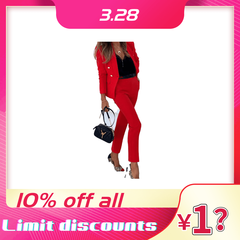 Two-piece Blazer One Of The Best-selling Women's Plain Color Suits Moda Feminina Fashion Spring Outfit Clothes  Temperament