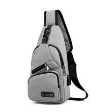 лучшая цена 2019 New product Male Shoulder Bags USB Charging Crossbody Bags Men Anti Theft Chest Bag School Summer Short Trip Messengers Bag