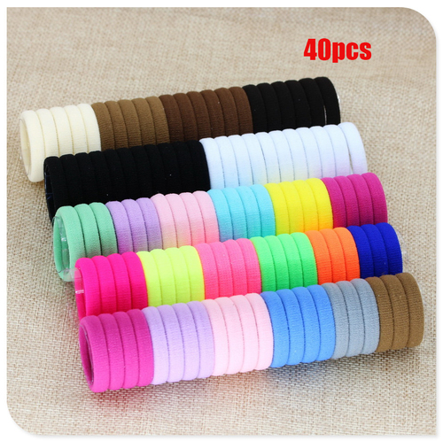 40 Pcs Girl Elastic Hair Bands Black White Hair Accessories 2019 Gum For Hair Ponytail Rubber Bands Holder