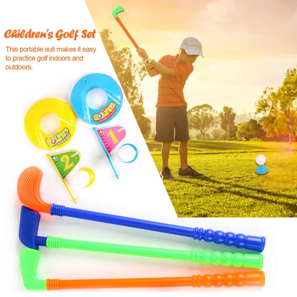 Professional Children Kids Outdoor Sports Games Toys Multicolor Plastic Mini Golf Club Set Parent-child Interactive Game Outdoor