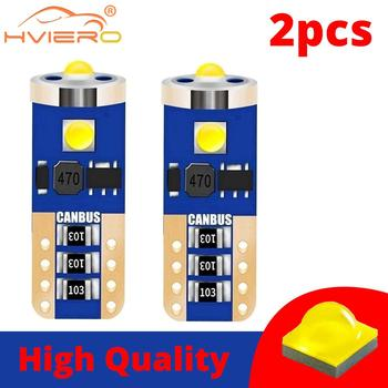 цена на 2X T10 W5W Car Auto Led 192 WY5W LED Car Interior Reading Dome Light Marker Lamp Auto Wedge Parking Bulbs Wedge Tail Side Bulb