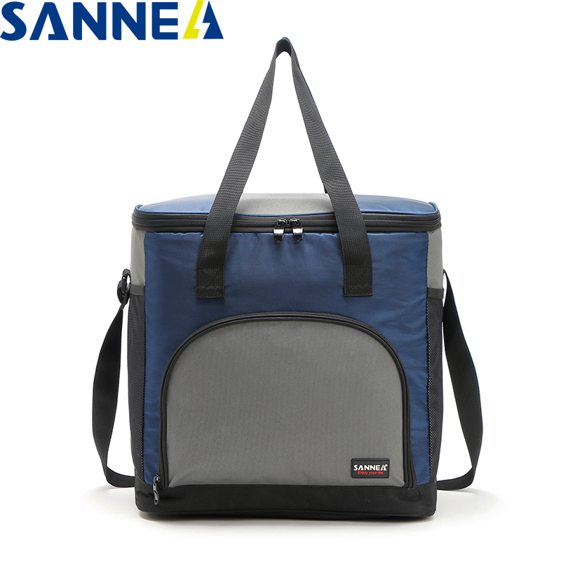 SANNE 25L Large Capacity Plain Color Portable Thermal Coole Bag For Food Famous Brand Waterproof Thermal Cooler Insulated