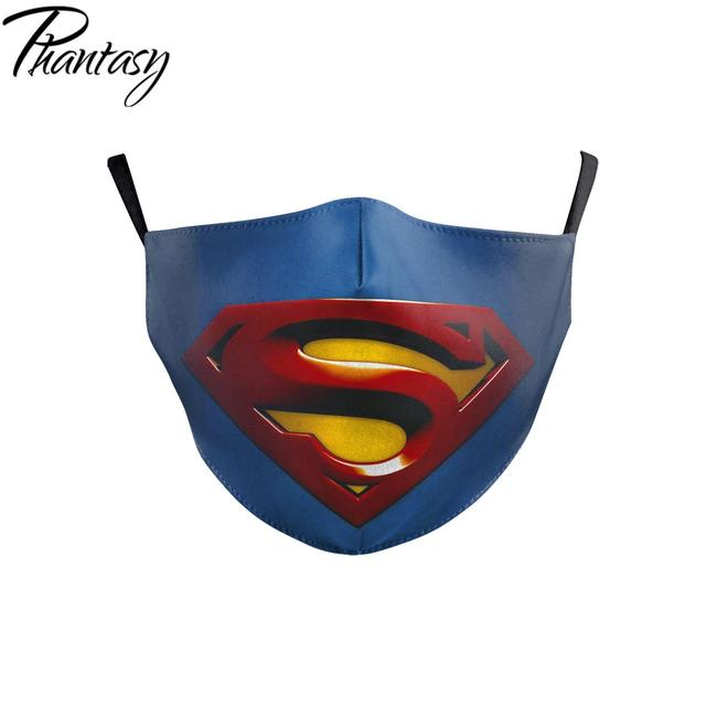Phantasy Children Adult Dust-Proof Anti-fog Multicolor Face Mask Marvel Superhero Cosplay Protective Mask Mouth Cover Breathable 3