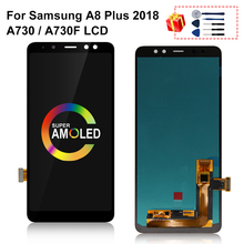 Super AMOLED LCD Screen For SAMSUNG Galaxy A8 Plus 2018 A730 A8+ 2018 A730F LCD Display Touch Digitizer Replacement For A730 LCD