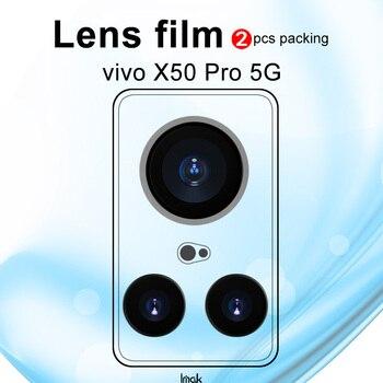 Перейти на Алиэкспресс и купить Imak 2шт износостойкая Защитная пленка для объектива камеры для vivo X50 5G /X50 Pro 5G пленка из закаленного стекла