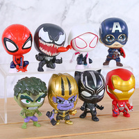 Superheroes Avengers Set of 8 Toys with Removable Heads 1