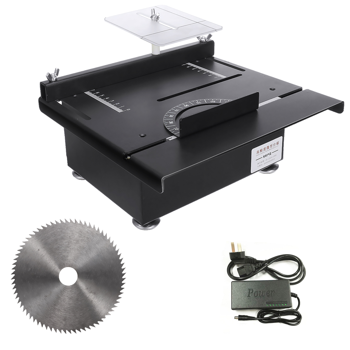 Mini Table Saw 100W Handmade Woodworking Bench Saw Multifunction Cutter DIY Crafts Cutting Tool Machine with Circular Saw Blade