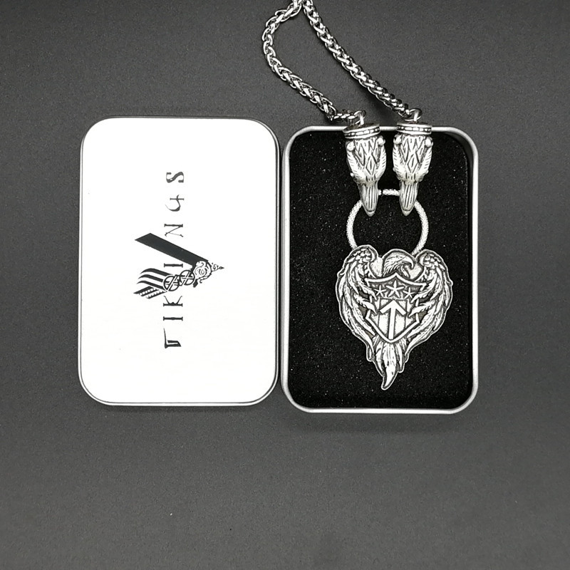 2019 Trendy Classic Vintage Men 39 s Personality Punk Style Viking Crow Pendant Necklace Choker Gift for Boyfriend Custom Hyperbole in Pendant Necklaces from Jewelry amp Accessories
