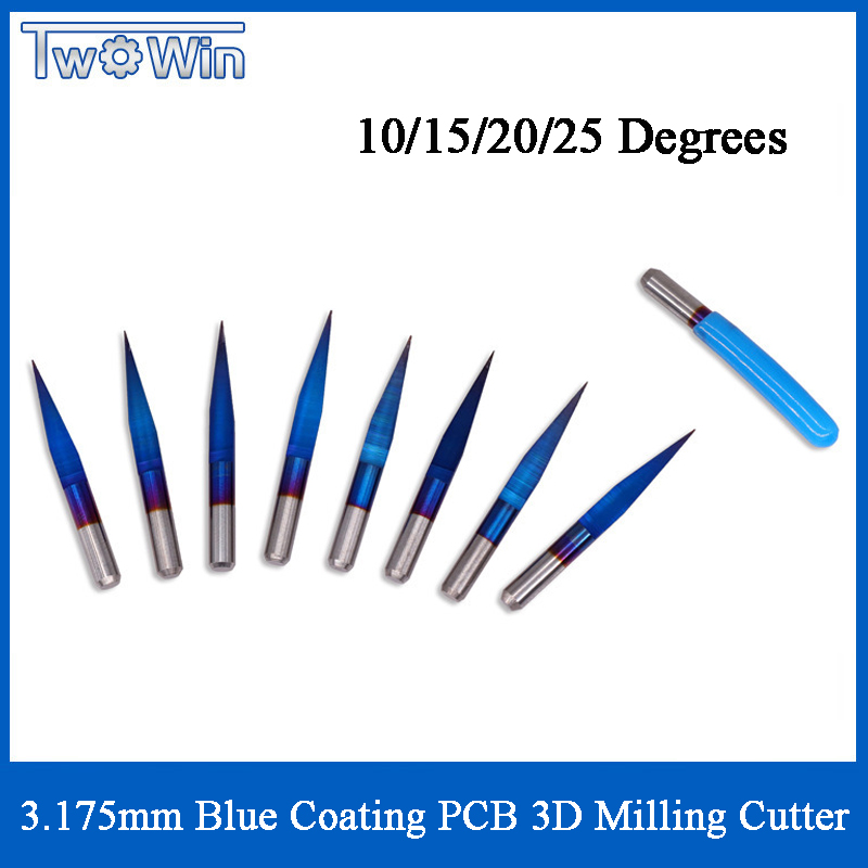 10pc Carbide PCB Engraving Bits CNC Router Tool 30°Tip 0.1-0.5mm V-shape