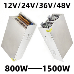 Transformador de iluminación Ac 230v 240v 220v a Dc 12v/24v/36v/48v adaptador de corriente 800w-1500w CCTV interruptor fuente de alimentación
